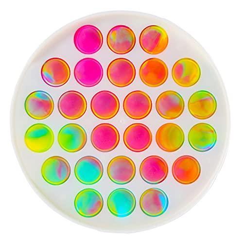 Push Pop Fidget Toys Bubble Sensory Novelty Toys Anxiety Stress Relief Autism Early Educational Brain Development Toy (Y)