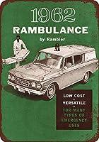 ブリキ看板1962ランブラー救急車VintageCollectibleウォールアート