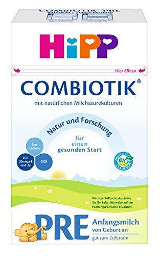 HiPP Pre Bio ComBiotik, Anfangsmilch von Geburt an, 4er Pack (4 x 600 g)