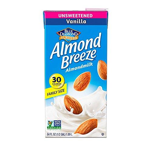 Almond Breeze Dairy Free Almondmilk, Unsweetened Vanilla Milk, 64 Ounce (Pack of 8)