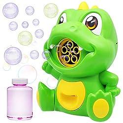 3. JOYIN Automatic Dinosaur Bubble Blower Machine