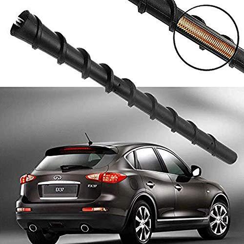 KSaAuto 7 Inch Copper Antenna for Infiniti EX35 EX37 FX35 FX45 QX70 QX60 JX35 FX37 - AM/FM Spiral Rubber Rear Top Antenna Replacement