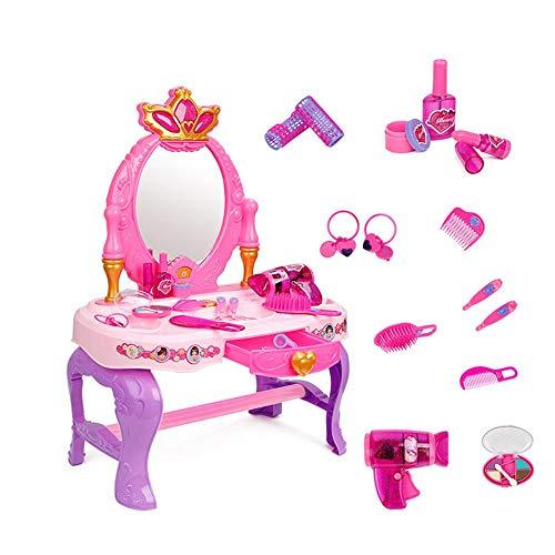 HUDEMR Schlafzimmer Schminktische Mädchen Multifunktionale Traum Dresser Spielzeug-Kind-Spiel-Haus-Simulation Kindermöbel (Color : Pink, Size : 60.5x29.5x43cm)