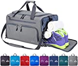 Venture Pal 20' Packable Sports Gym Bag with Wet Pocket & Shoes Compartment Travel Duffel Bag for men and Women-Gray