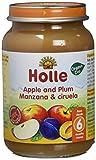 Holle Potito de Manzana y Ciruela (+6 meses) - Paquete de 6 x 190 gr - Total: 1140 gr