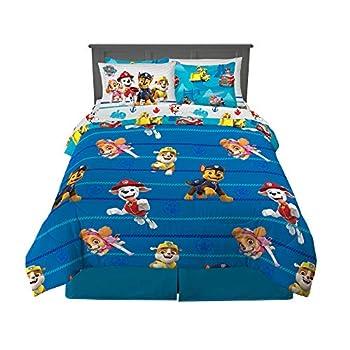 Franco Kids Bedding Super Soft Comforter and Sheet Set with Sham 7 Piece Full Size Paw Patrol