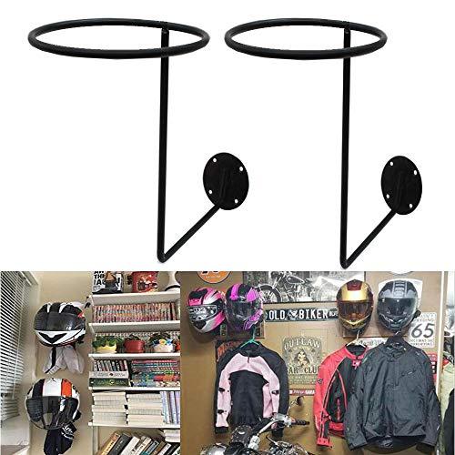 Motorcycle Accessories, 2 Pack Helmet Holder Helmet Hanger Rack Wall Mounted Hook for Coats, Hats, Caps–Great Gift Idea (2pc)