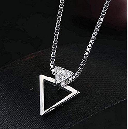 huangxuanchen co.,ltd Collar Collar Romántico Coreano, Collares con Colgante Triangular para Mujer, Collares Largos para Mujer, Joyería De Boda para Mujeres Y Hombres
