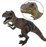 """GIFTEXPRESS Jumbo 12"""" T-Rex Tyrannosaurus Dinosaur Toy with Movable Jaw - Large T-Rex Action Toy, Realistic Jurassic Dinosaur Figurine"""