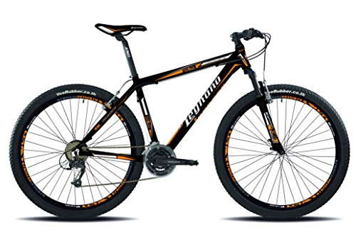 Legnano Ciclo 610 7L730 Val Gardena, Mountain Bike Uomo, Nero/Arancio, 40