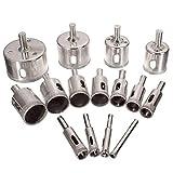 15 piezas/Set de 6 mm a 50 mm del agujero del diamante Herramientas de sierra taladro for cerámica Mármol de cristal de cerámica