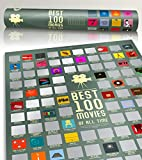 100 Movie Scratch Off Poster Top Films of All Time Bucket List by Travel Revealer Scratch Off Movie Poster. 17'x24' Minimalist Modern Silver Screen Movie Poster Design by British Artist. (Silver Screen)
