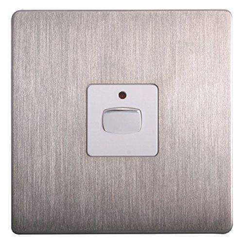 Energenie mihome 13A 1-Gang 1Vía interruptor de luz de acero inoxidable