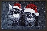 Trendstern Trendprodukteshop Fußmatte Katzen Duo Weihnachten Weihnachtskatze Türmatte Christmas Fußabtreter Vorleger