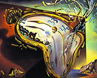 Culturenik Salvador DALI-Watch Explosion Surrealist Art PAINTNG (8 x 10 Framed Print) (8 x 10 Framed Print)