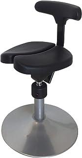 アーユル・チェアー 丸ベースタイプ ルナ ブラック 座面回転ロック切替式 【骨盤を立て坐骨で座る 腰と姿勢のサポート椅子 子どもの学習イス 集中できる学習環境 特許取得】
