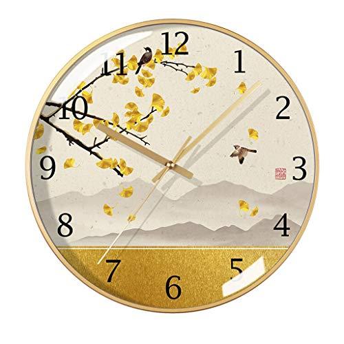 Zunruishop Wanduhren Wanduhr/Moderne Wanduhr Haushalt Mute Wanduhr Mode chinesischen Stil Clock Wanduhr Klassenzimmer, Schuluhr (Color : A, Größe : S)