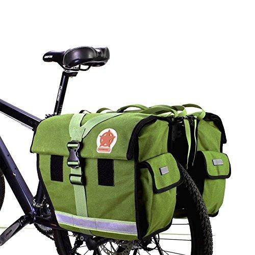 Roswheel Unisex 14686-G 45L Doppelte große Fahrradtasche Gepäckträger Gepäckträger Wasserdicht Rücksitztasche Armeegrün 40-50L