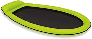 Intex Inflatable Mesh Lounge Floating Raft W/Headrest Green - 58836