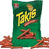 NEW Barcel Takis Stix Fuego Chili Pepper & Lime Partnered With Takis Crunchy Fajitas Net Wt 9.9 Oz (Crunchy Fajitas, 1)