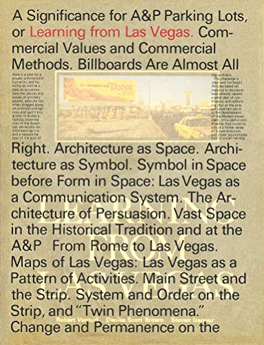 Learning From Las Vegas: Facsimile Edition (The MIT Press)