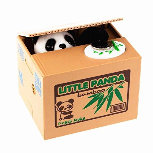LMTECH Little Panda Money Bank Saving Box Panda Money Box Stealing Coin Panda by