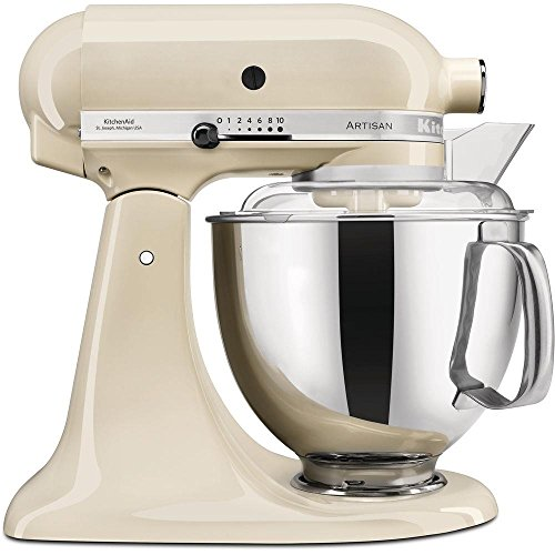 KitchenAid Artisan - Robot de cocina (4,8 L), color crema