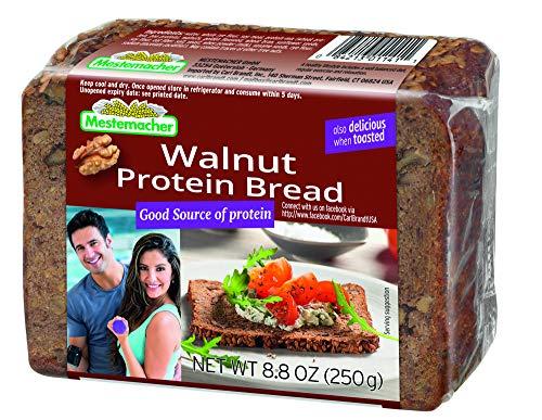 Mestemacher Protein Bread, Walnut, 9 Count