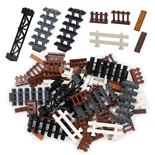 House Fence Building Blocks Pieces Toys City Accessories Lots Garden Farm Stair Railing Bars Bricks Parts Bulk