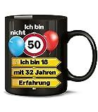 Golebros Ich Bin Nicht 50 ich Bin 18 mit 32 Jahren Erfahrung Tasse Becher Kaffee Runder Geburtstag Geschenkideen Opa Oma Frauen Männer Ihn Sie Artikel