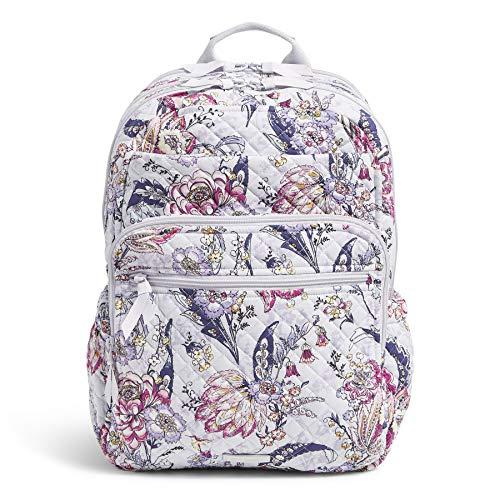 Vera Bradley Women's Signature Cotton XL Campus Backpack Bookbag, Hummingbird Park, One Size