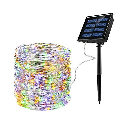 Ankway Solar Lichterkette[Verbesserte] Led Lichterkette (200led Kupferdraht 72ft 9 Modi), IP65 Wasserdichte Solarbetrieben Lichterkette, Solarleuchten für Garten Außen/Innen Weihnachten Party Deko