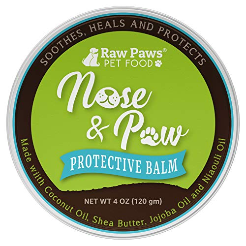 Raw Paws Natural Dog Nose Balm, 4-oz - Dog Snout Balm Treats Dry, Chapped, Cracked Noses - Snout Soother Dry Nose Relief for Dogs & Cats - Dog Nose Butter Heals & Protects - Cat & Dog Nose Moisturizer