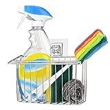 OIZEN Adhesivo Estante de Almacenamiento para Fregadero Organizador Sink Caddy Soporte para Utensilios de Cocina para el Fregadero Acero Inoxidable 304 Limpieza de Cocina Organizador Porta Esponja