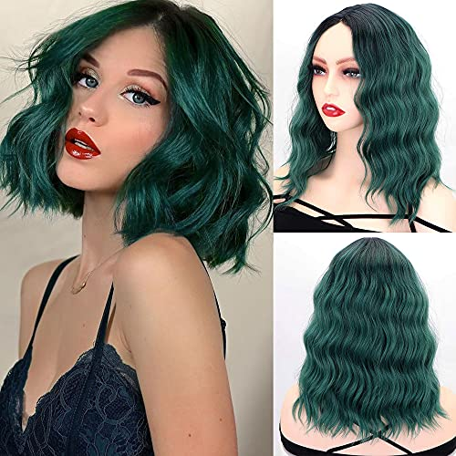 comprar pelucas cortas mujer front lace bob rizado on-line