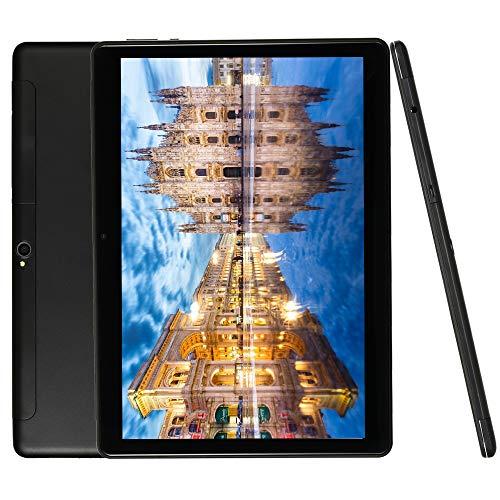 4G LTE Phablet 10 Inch Tablet Android 9.0 Deca-Core Processor 2.8GHZ 6GB+64GB 1920x1200 IPS HD Dual Camera Unlocked Dual SIM WiFi GPS Google Play (Black)