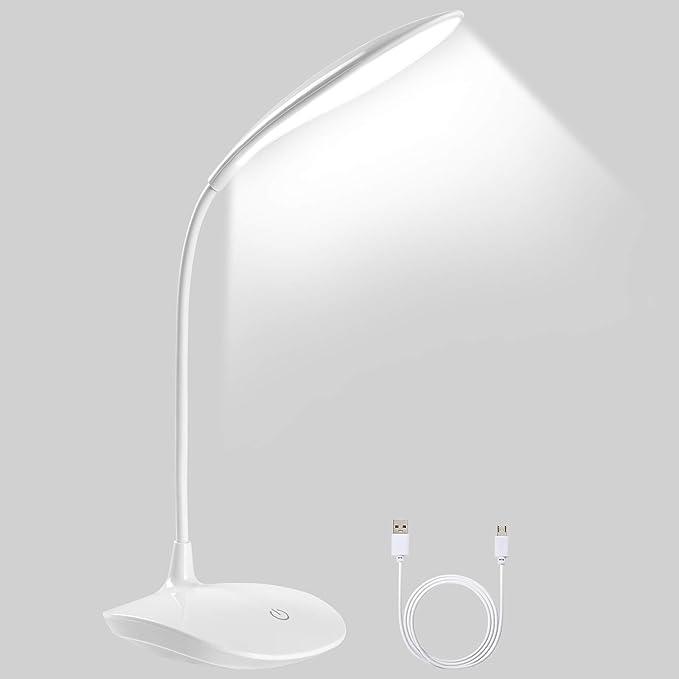 1765 opinioni per Lampada da Tavolo 20 LED, URAQT LED Luce di Lettura USB Ricaricabile, Pieghevole