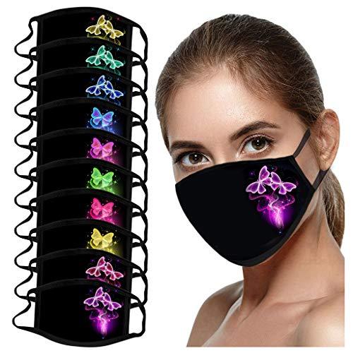 10PCS Girls Dream Butterfly Druckbare Waschbare Winddichte Staubdichte Handtücher Ausgehen Wesentliche Schutzausrüstung (gemischte Farben)