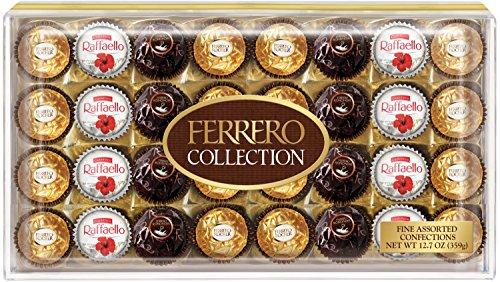Ferrero Collection Gift Box, 32 Count, Rondnoir, Rocher and Raffaello