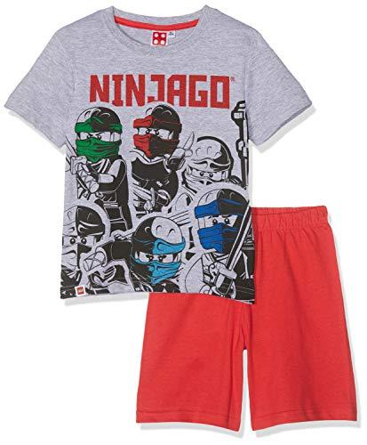 LEGO NINJAGO Jungen 5536 Zweiteiliger Schlafanzug, Grau, 140