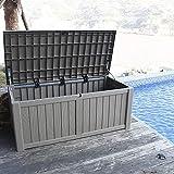 XLLLL Arcon Exterior Impermeable Caseta Depuradora Plastic Wheelie Bin Shed Garden Outdoor Bench Store Ideal Deck Patio Cushion Storage Box