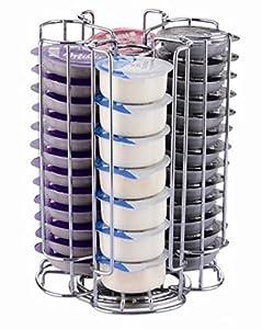 EXZACT Soporte Para Cápsula Compatible para cápsulas de café Tassimo (52 piezas) - Soporte giratorio para torre de cápsulas (Tassimo 52 Piezas)