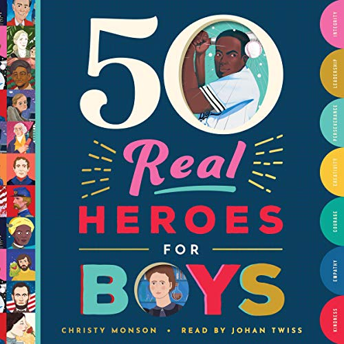 50 Real Heroes for Boys audiobook cover art