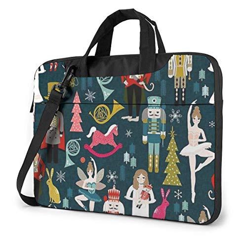 Cute Nutcracker Laptop Sleeve Case 15.6 Inch Computer Tote Bag Shoulder Messenger Briefcase for Business Travel