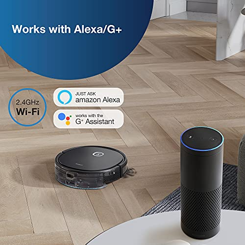 ECOVACS DEEBOT U2 Pro Robotic Vacuum Cleaner and OZMO Mopping,Large Dust Bin & Water Tank with App & Voice Control,4-Stage Cleaning System for Carpets & Hard Floors