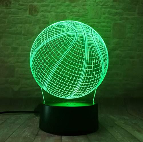 3D Lampe Basketball Ball Nachtlicht Für Schlafzimmer Schlafzimmer Dekor Coole Geburtstagsgeschenk Für Kind 3D Illusion Hollogramm Led Licht Licht Licht Baby