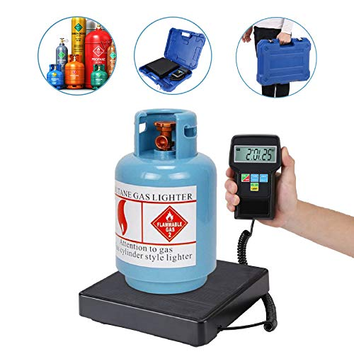 Nannday Báscula de Carga de refrigerante, báscula electrónica Digital de 220 lb/100 kg con Estuche para Carga de refrigerante, recuperación y pesaje de Aire Acondicionado Comercial