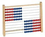 Betzold Holz-Rechenschieber Grundschule 100 - Kinder Abakus Rechenrahmen Mathematik Rechnen lernen -