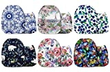 Mama Koala One Size Baby Washable Reusable Pocket Cloth Diapers, 6 Pack