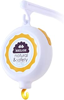 SHILOH Baby Crib Musical Mobile Battery-Operated 60 Songs White